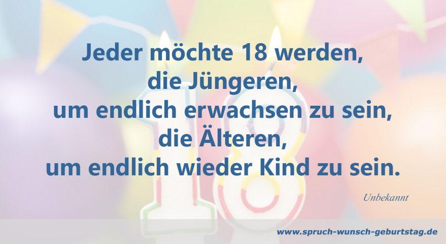 Zum 18 Geburtstag Spruche Und Gluckwunsche