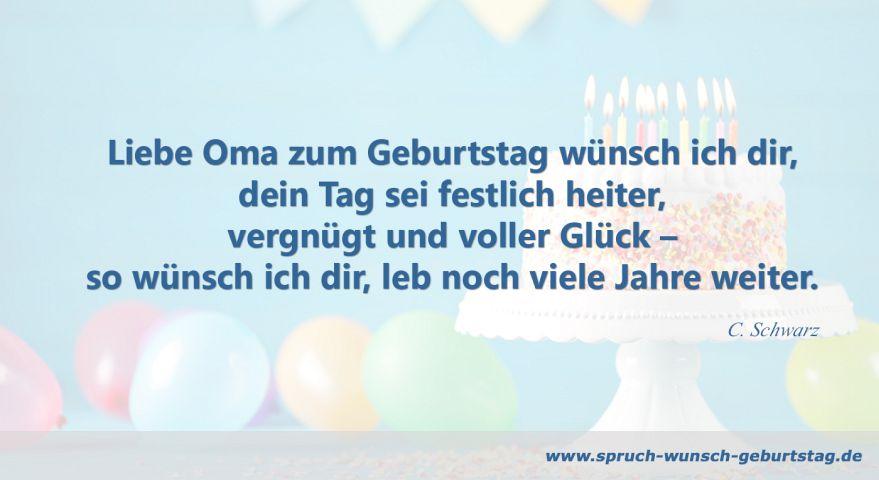 Geburtstagswünsche Und Sprüche Für Oma Zum Geburtstag